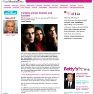 Vampire Diaries Secrets and Spoilers | BettyConfidential.com
