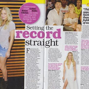 Setting The Record Straight LeAnn Rimes & Eddie  Cibrian </br>TV Soap Magazine