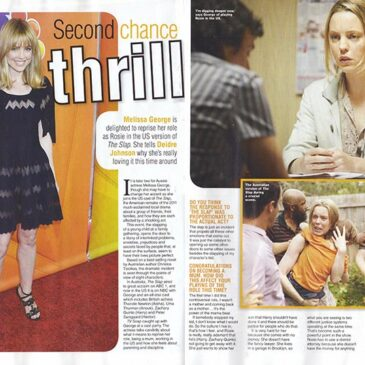 Second Chance Melissa George NBC's THE SLAP</br>TV Soap Magazine
