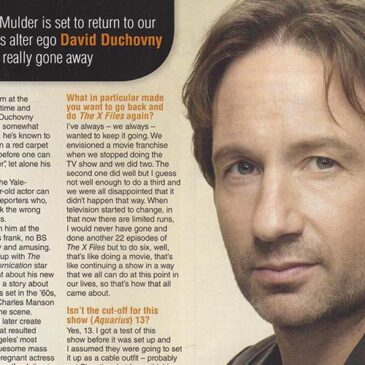David Duchovny – Still Out There </br> TV Soap