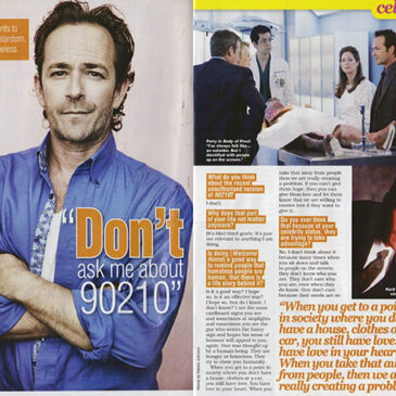 "Luke Perry ""Don't ask me about 90210.""  </br>TV Soap"